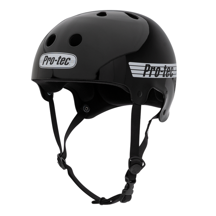 Pro-Tec Old School Skate Helmet - Gloss Black