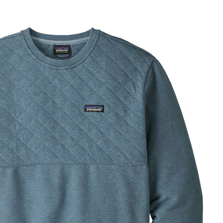 Patagonia Cotton Quilt Crewneck Sweater - Pigeon Blue