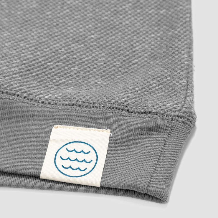 Mollusk Wave Patch Crew - Cloud Grey
