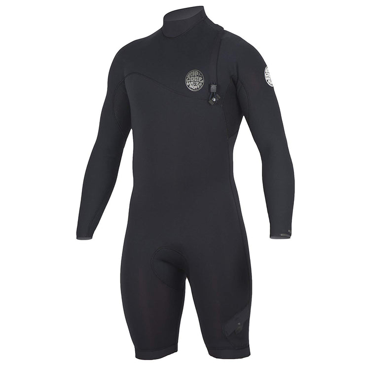 Rip Curl E-Bomb Zip Free Long Sleeve 2/2 Spring Suit - Black