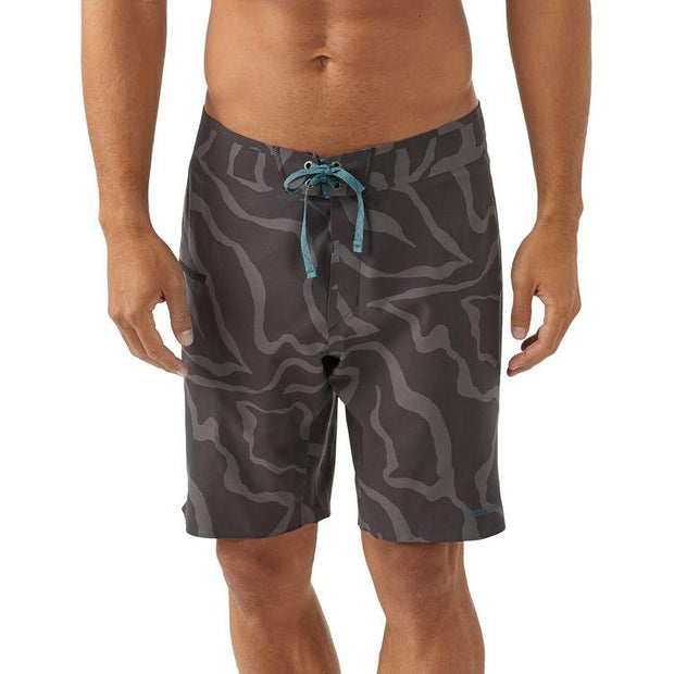 "Patagonia Stretch Hydroflow Boardshorts - 19"" Tiger Tracks Camo: Ink Black"