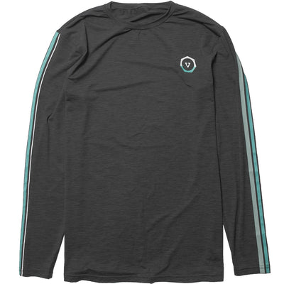 Vissla The Trip Long Sleeve - Black Heather - Youth