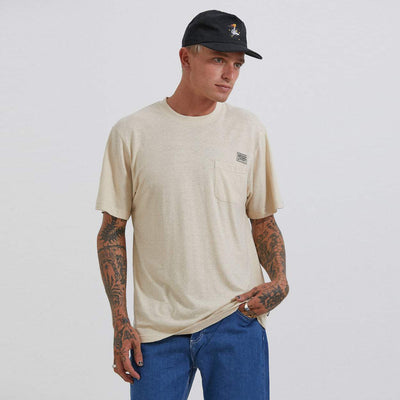 Afends Heritage Hemp Retro Fit T-Shirt - Macadamia