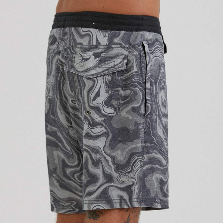 Afends Mens Zoil Boardshort - Black