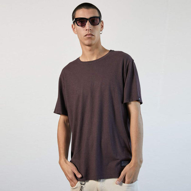 Afends Classic Hemp Standard Fit T-Shirt - Mulberry