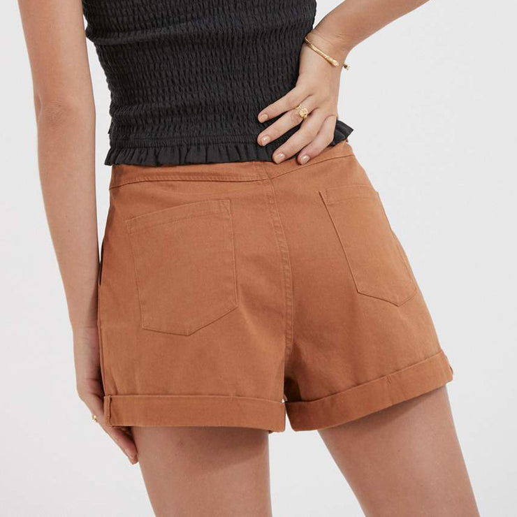 Afends June Hemp Short - Clay
