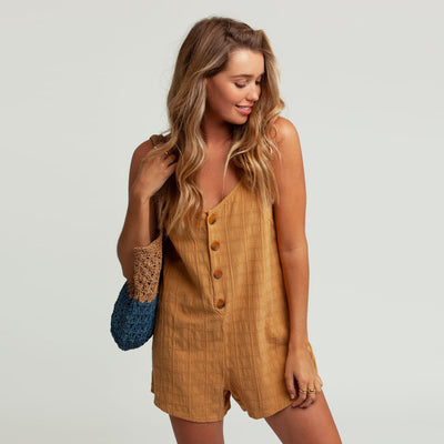 Rhythm Amalie Romper - Honey