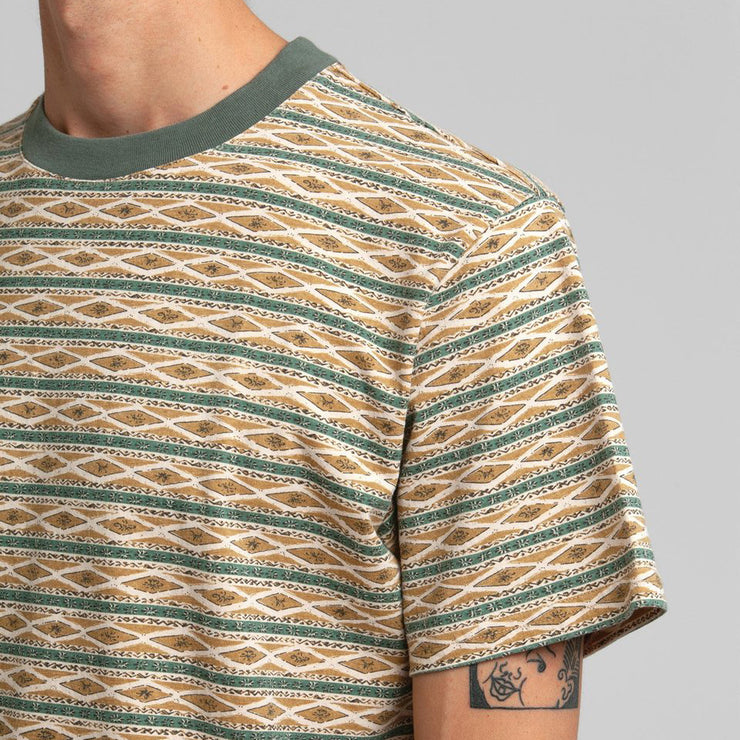 Rhythm Tribe Stripe T-Shirt - Agave