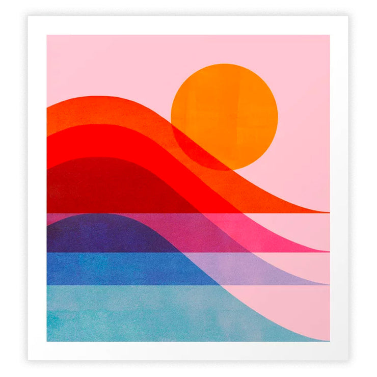 Abstraction Surfing New Wave Art Print