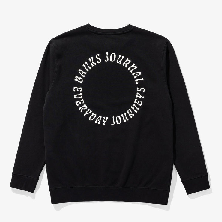 Banks Journal West Coast Crew Graphic Fleece - Dirty Black