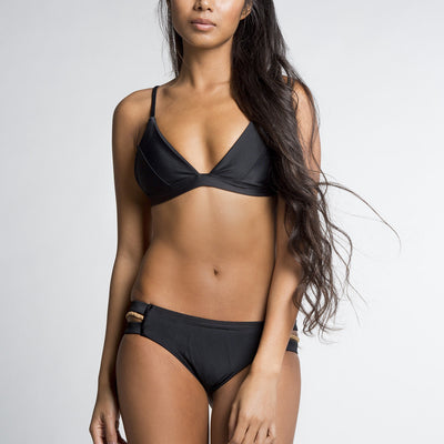 June Sam Surf Bikini Top - Ebony