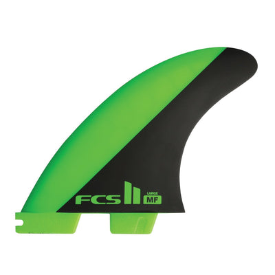 FCS II Mick Fanning PC Carver Tri Fins - Large - Green
