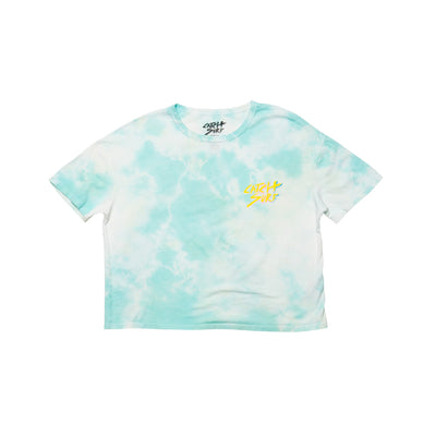 Catch Surf Women's Catch Slash Crop Tee - Seafoam Tie-Dye