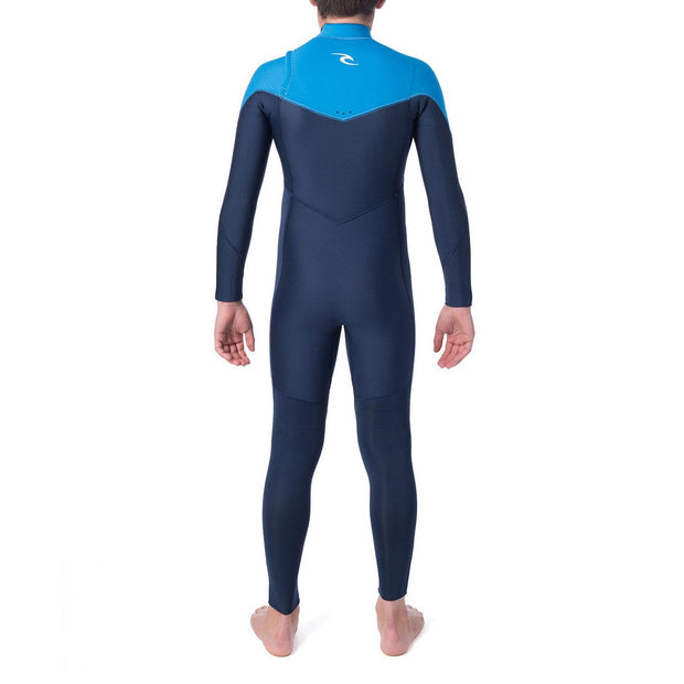 Rip Curl Jr. Dawn Patrol 3/2 Chest Zip Wetsuit - Blue