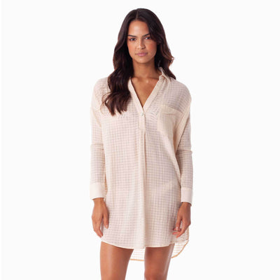 Rhythm Mali Long Sleeve Overswim - Peach