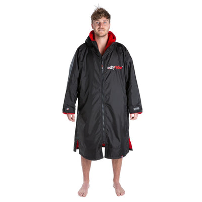 Dryrobe Long Sleeve Change Robe - Black/Red