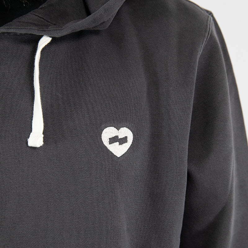 Banks Journal - Heart Graphic Fleece - Dirty Black