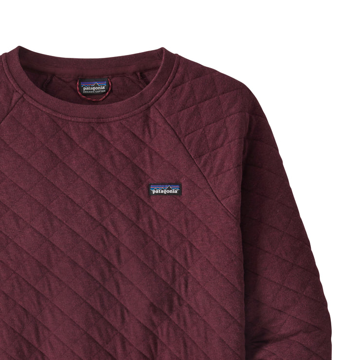 Patagonia Women's Organic Cotton Quilt Crewneck Sweater - Chicory Red