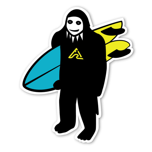 Shreddie Sticker - Large - Blue/Yellow