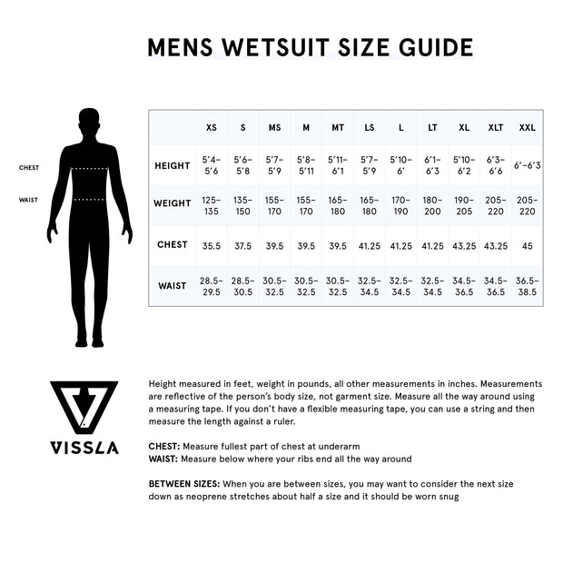 Vissla High Seas 4/3 Zip Free Wetsuit - Phantom
