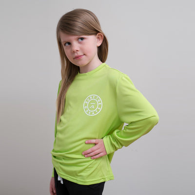 STG Youth Toes on the Nose LS Rash Guard - Lime Green