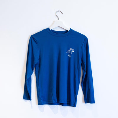 STG Youth Shreddie LS Rash Guard - Royal Blue