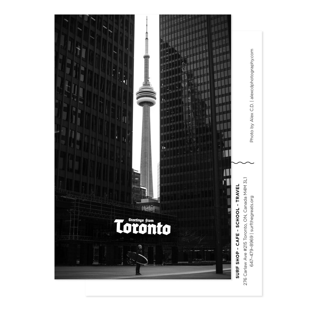Black And White Postcard From >> Greetings From Toronto