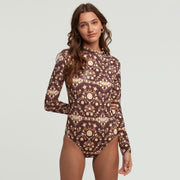 Rhythm Summerfields Long Sleeve One-Piece - Clove