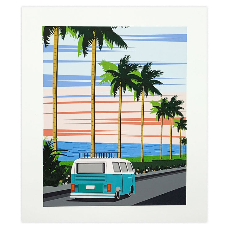 Van by the Sea Art Print