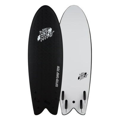 PRE-ORDER FOR OCTOBER - Wave Bandit Retro Fish 5'8 Quad Black