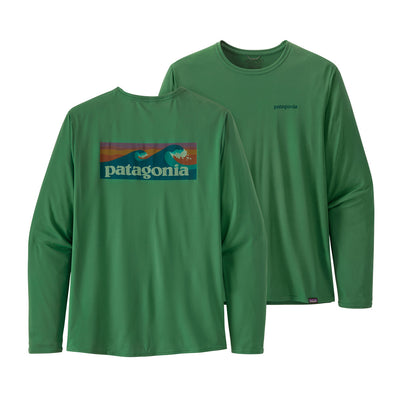 Patagonia Men's Long-Sleeved Capilene® Cool Daily Graphic Shirt - Eelgrass Green