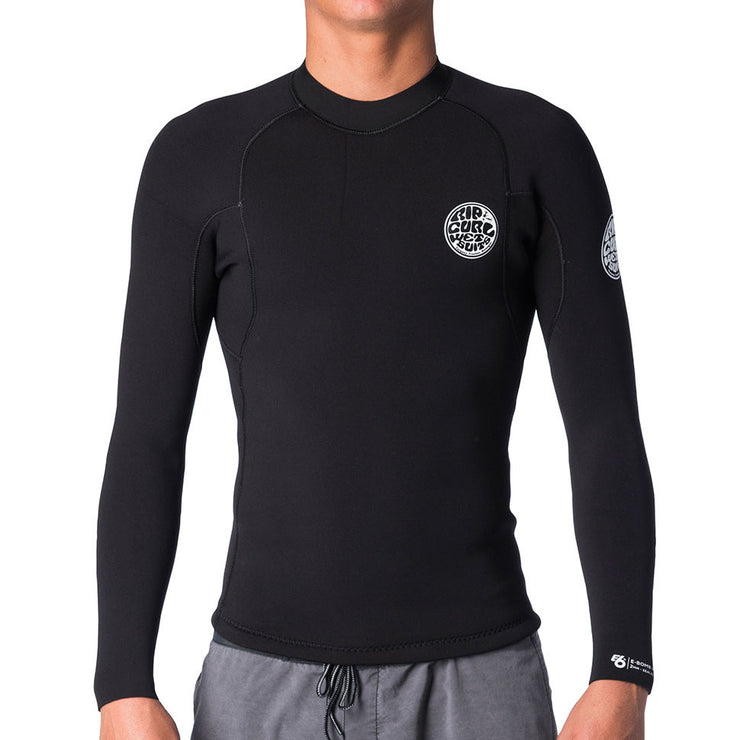 E Bomb Long Sleeve Wetsuit Jacket - Black