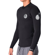 Rip Curl E-Bomb Long Sleeve Wetsuit Jacket - Black