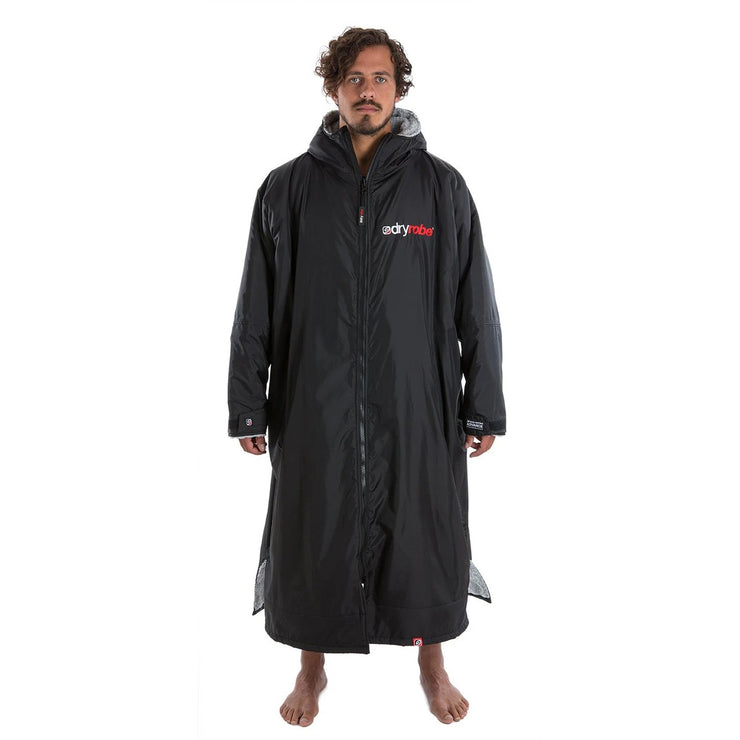 Dryrobe Long Sleeve Change Robe - Black/Grey