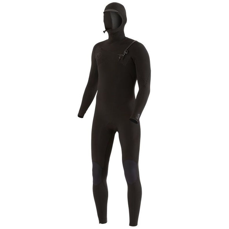 Vissla 7 Seas 6/5 Hooded Chest Zip Wetsuit - Stealth