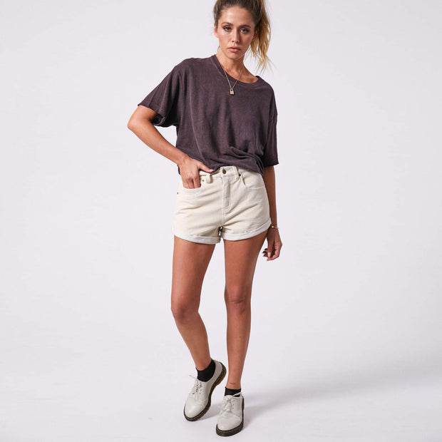 Afends Women Slay Hemp Oversize T-Shirt - Mulberry