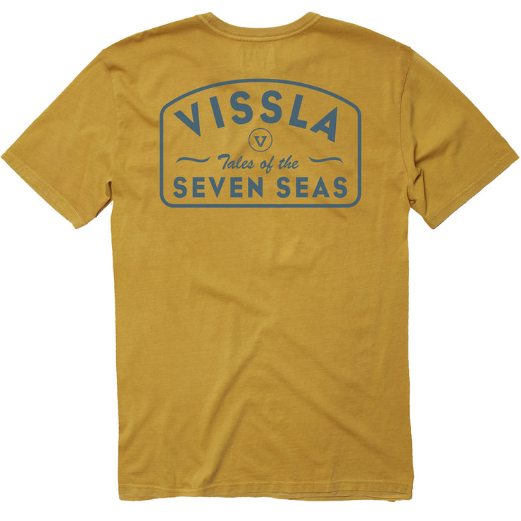 Vissla Plain Sailing Pigment Dye Tee - Golden Hour