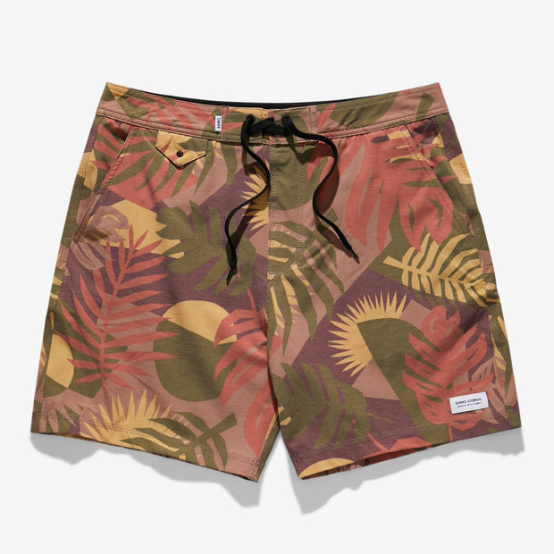 Banks Journal Climate Boardshort - Orange Rust