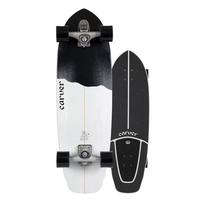 Carver C7 Raw Black Tip Surfskate - 32.5""