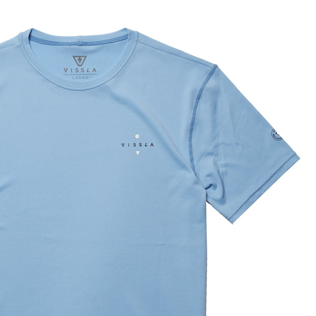 Vissla Beach Day SS Surf Tee - Pacific Blue