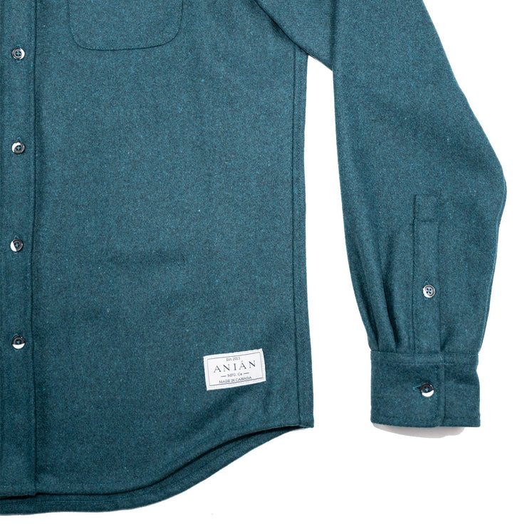 Anián Men's Melton Wool Shirt - Mineral
