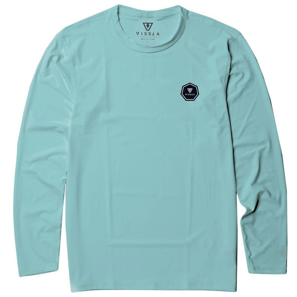 Vissla Everyday L/S Rash Guard - Jade - Youth