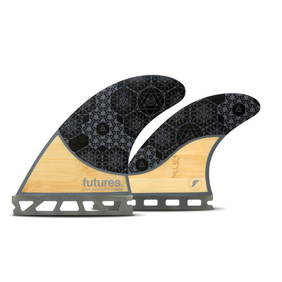 Futures Rasta Honeycomb Quad Fins