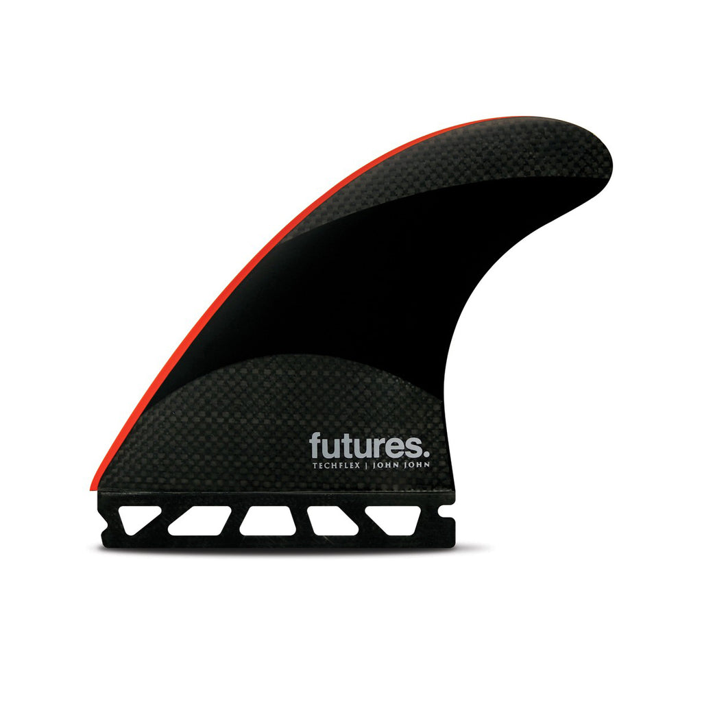 Futures JJF Large Techflex Thruster - Black/Bright Red