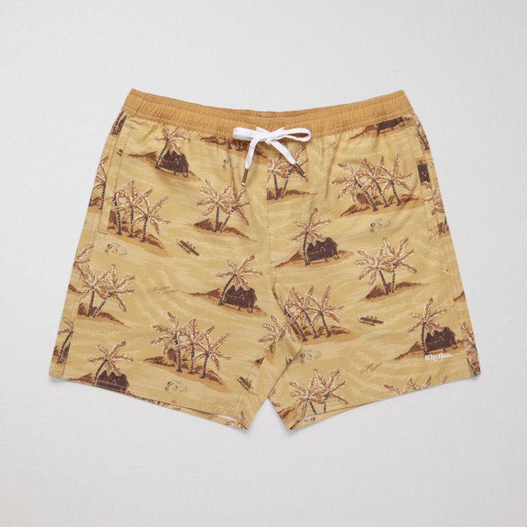 Rhythm Honolulu Beach Short - Sunset Yellow