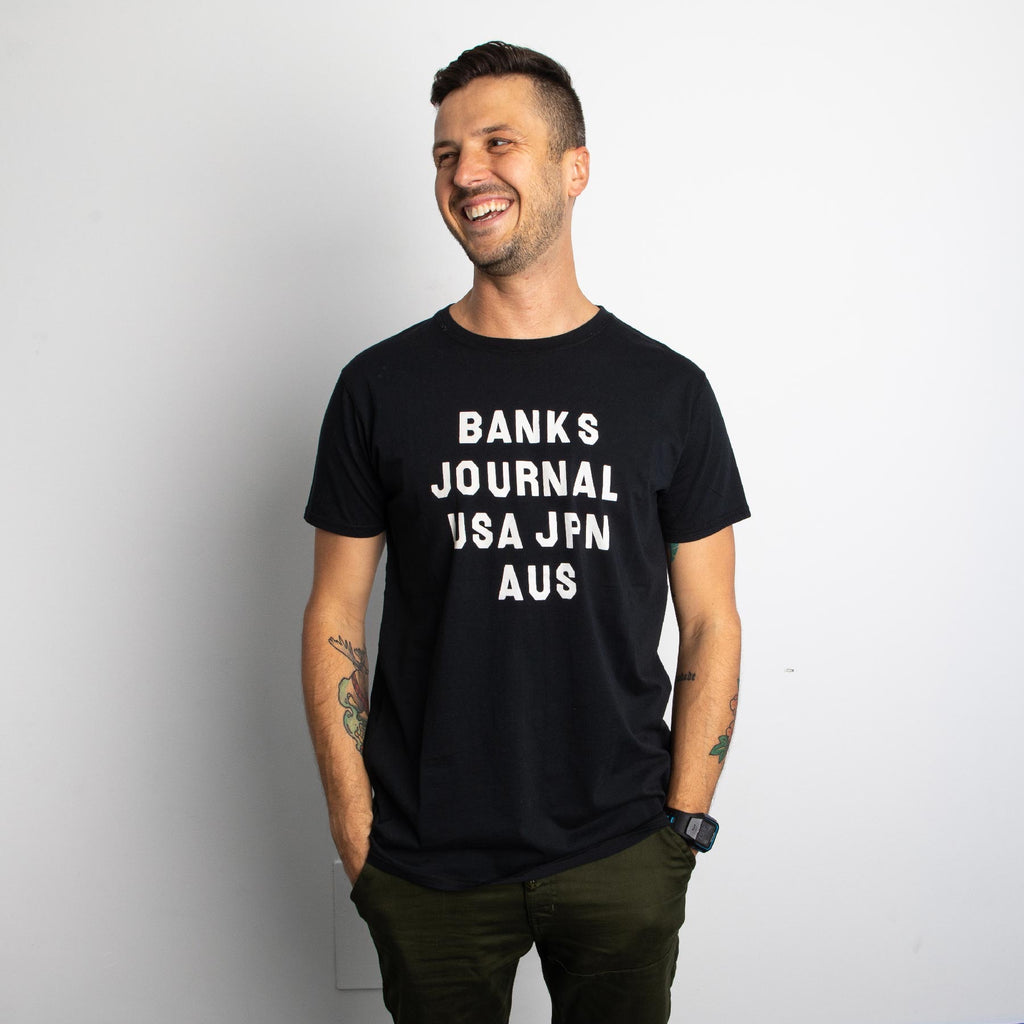 Banks Journal - Hemisphere Classic Tee - Dirty Black
