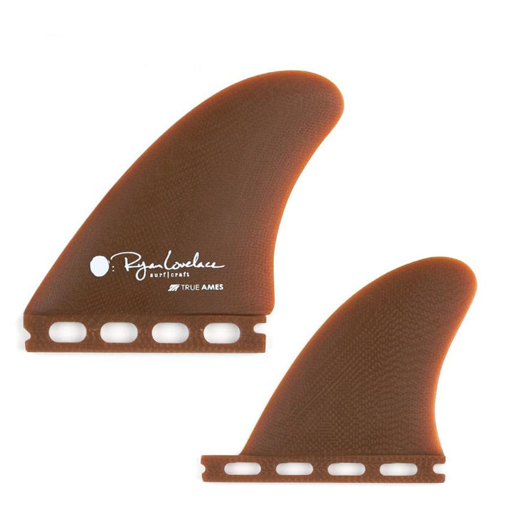 True Ames Lovelace Piggyback Quad Fins - Futures Compatible