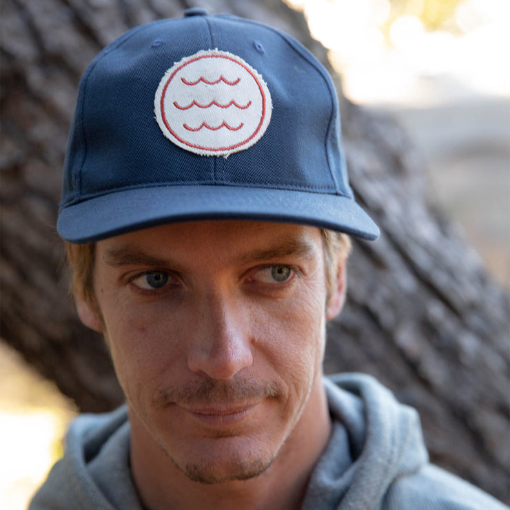 Mollusk Wave Patch Hat - Navy
