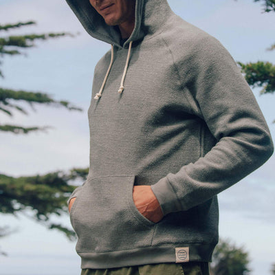 Mollusk Wave Patch Pullover Hoodie - Cloud Grey