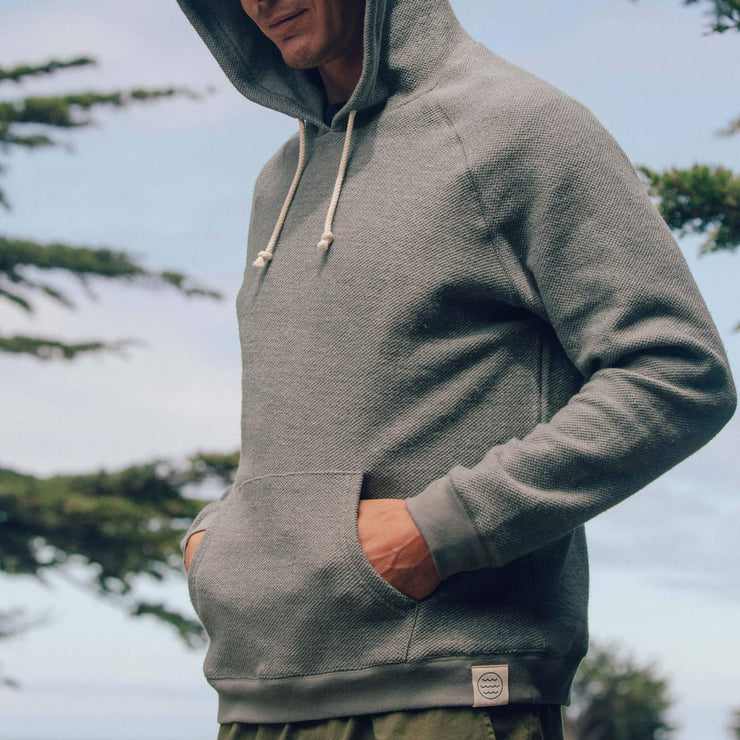 Mollusk Wave Patch Pullover - Cloud Grey